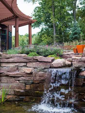 Bloom! Gardens   Lotus Gardenscapes -- Stone Waterfall